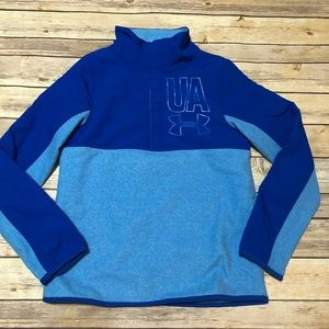 NWOT Youth Under Armour Blue Cold Gear Pull-Over
